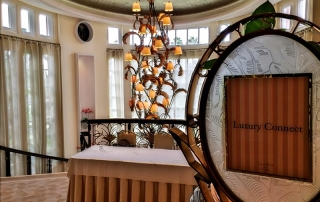 Entrance to Luxury Connect held in the ballroom at the Beverly Hills Hotel